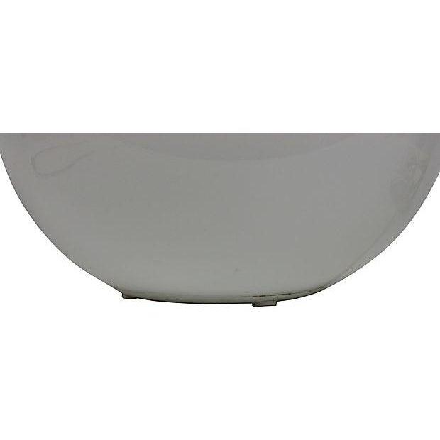 Image of 1970's Milk Glass Globe Table Lamp