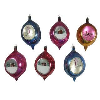Polish Scenic Teardrop Ornaments - Set of 6