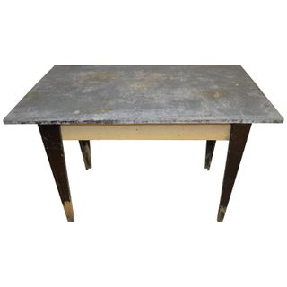 Early 20th Century Potting Table With Zinc Top