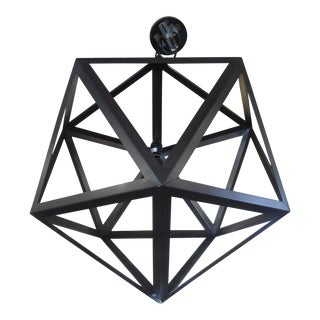 Restoration Hardware Steel Polyhedron Pendant Light