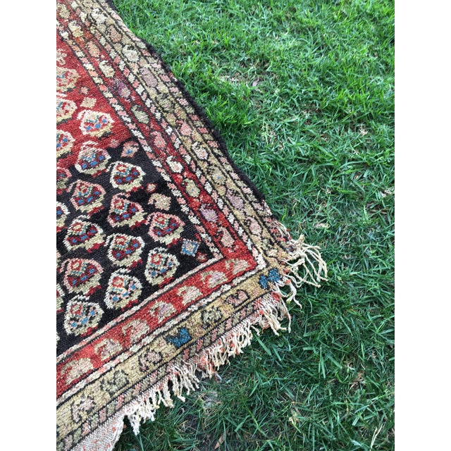 "Image of 1870's Antique Persian Kurdish Rug - 3'11"" X 6'3"""