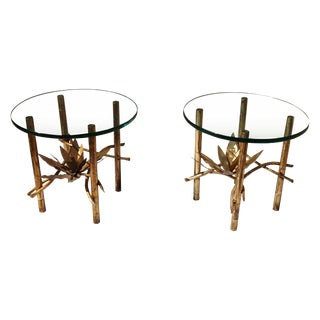 1960's Brass End Tables