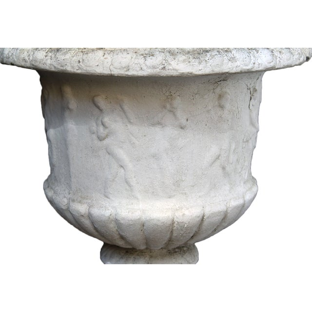 Antique Cement Urn - Image 3 of 4