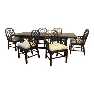 Ralph Lauren Expandable Dining Table & 6 Chairs - A Set