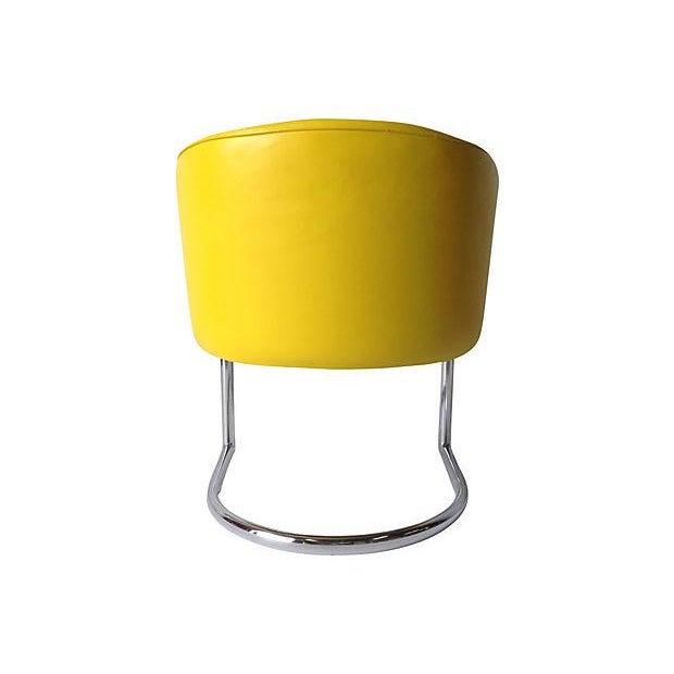 Milo Baughman Chrome Tub Club Chair - Image 6 of 7