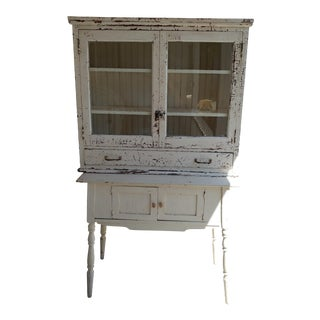 Antique Farmhouse Shabby Chic Cupboard