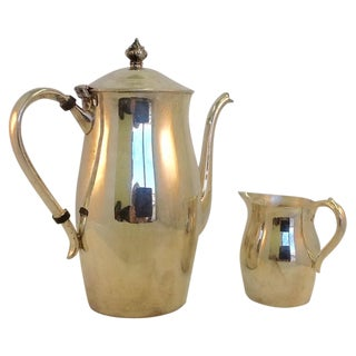 Silverplate Oneida Coffee Pitcher & Creamer