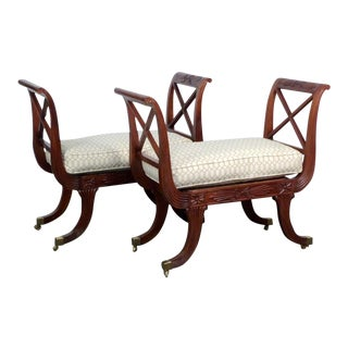 Regency Style Window Benches - A Pair