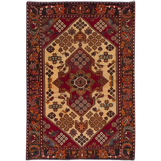 "Hamadan Vintage Persian Rug, 4'2"" x 6'2"""