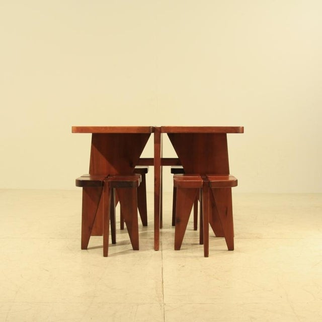 Image of Lisa Johansson-Pape table and stools