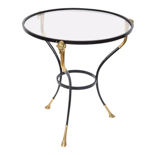 Italian Regency Table with Brass Ram Details