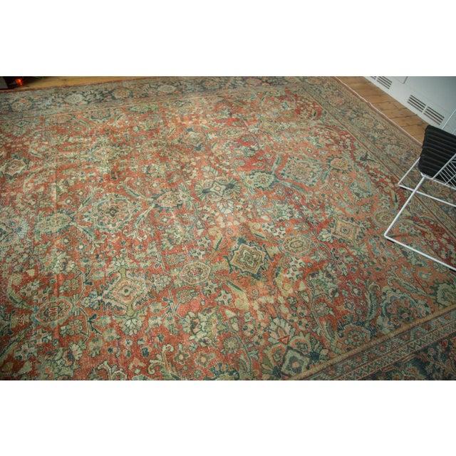 "Vintage Distressed Mahal Carpet - 10'8"" x 13'8"" - Image 8 of 10"