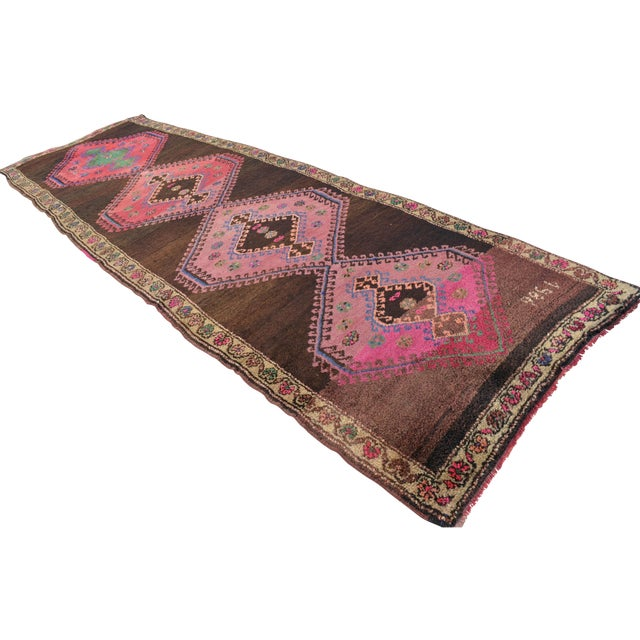 Hand Knotted Turkish Runner Rug - 4′6″ × 13′3″ - Image 1 of 11