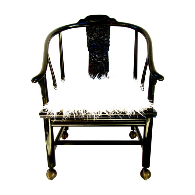 Vintage James Mont Lacquered Ming Chair - Image 1 of 7
