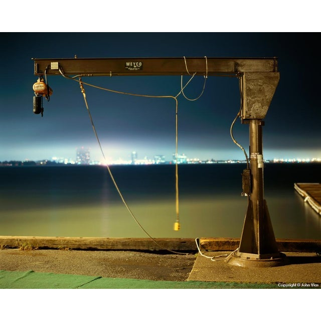 Image of Small Boat Winch - Night Photograph by John Vias