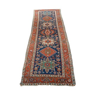 Caucasian Kazak Tribal Design Runner Rug