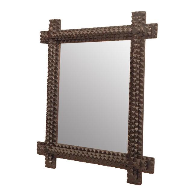 Tramp Art Mirror - Image 4 of 7