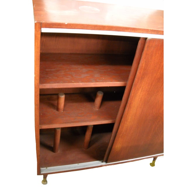 Vintage Midcentury Modern Record Cabinet - Image 6 of 11