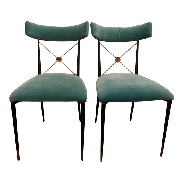 Jonathan Adler Rider Dining Chairs - A Pair - Image 1 of 7