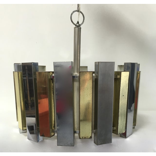 Mid-Century Brass Chandelier - Image 2 of 6