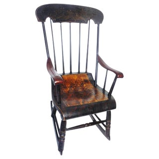Early 19th Century Original Paint Decorated Rocking Chair