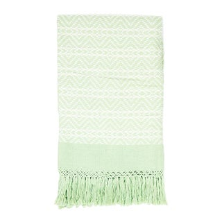 Green Handwoven Chiapas Throw