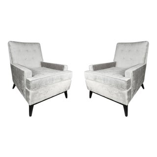 Pair of Mid-Century Modernist Splayed Leg Armchairs in the Manner of McCobb