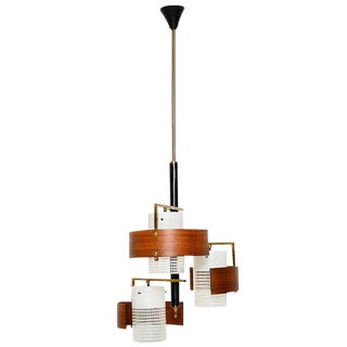 Italian Chandelier with Teak Diffusers