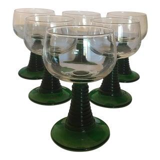 Luminarc France Vintage Roemer Goblet Style Stemware- Set of 6