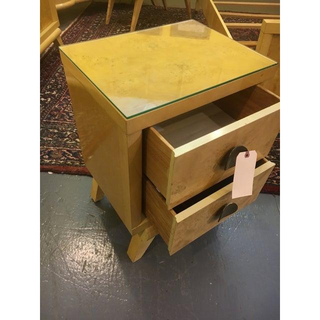 Mid-Century Blonde Nightstands Side Tables - Pair - Image 8 of 11