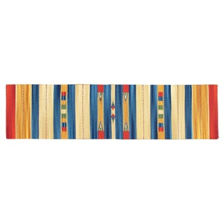 Blue Stripes 2 x 8 Striped Kilim Runner