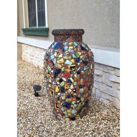 Decorative Mosaic Urn - Image 2 of 6