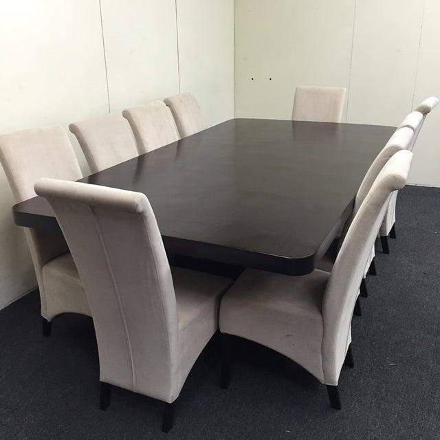 Dark Brown Wooden Dining Set - Image 3 of 11