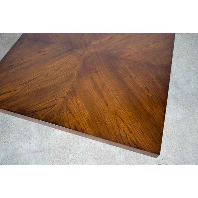 Walnut And Chrome Coffee Table: Mid Century Walnut And Chrome Milo Baughman For Thayer