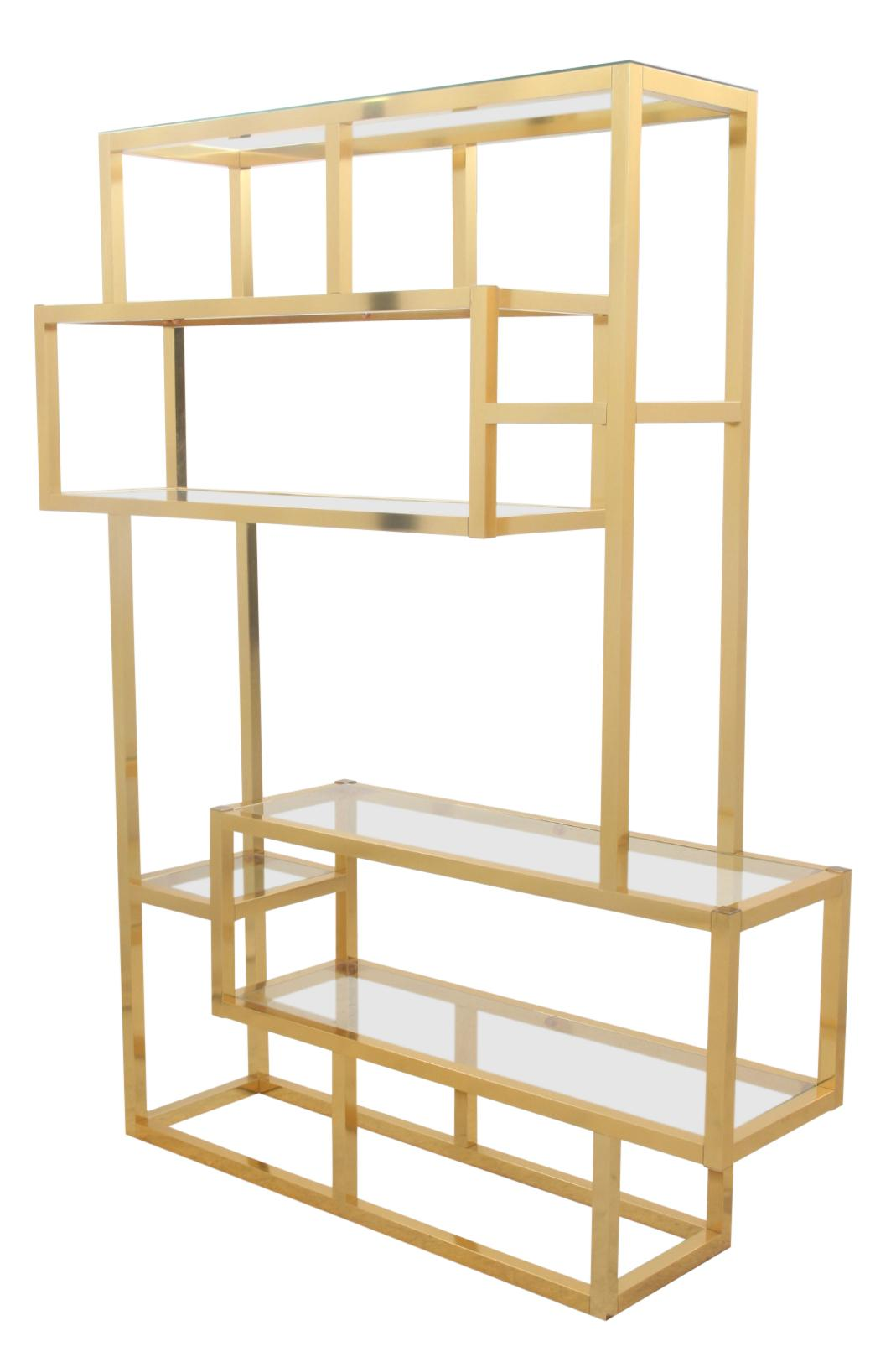 Mid Century Modern Gold Etagere   Image 2 Of 6