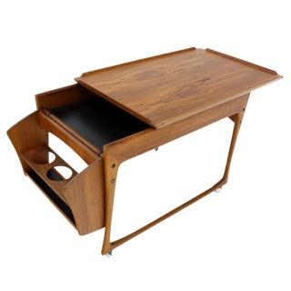 Danish Modern Rolling Teak Bar Cart