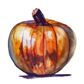 Orange Autumn Pumpkin Painting