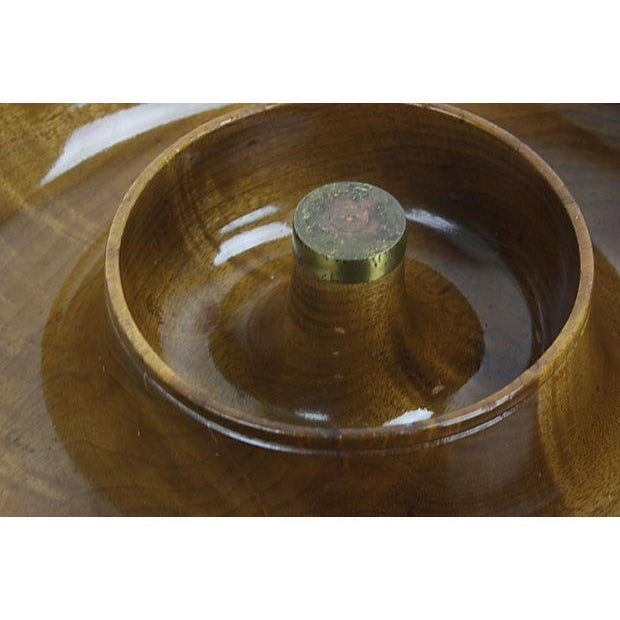 Mid-Century Mod Nut Cracker Bowl in Oregon Myrtle - Image 4 of 6