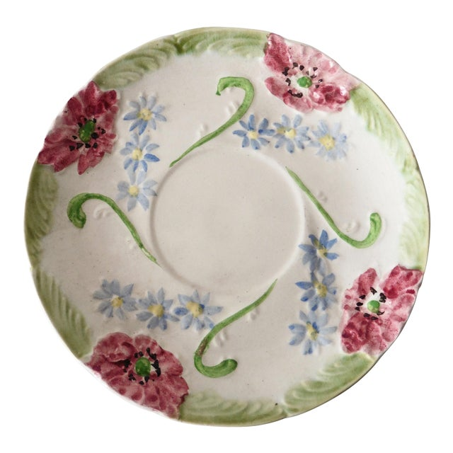 Longchamp Majolica Flowers Plate - Image 1 of 3