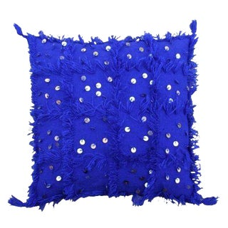 "Moroccan Blue Berber Sham - 19"" x 19"""