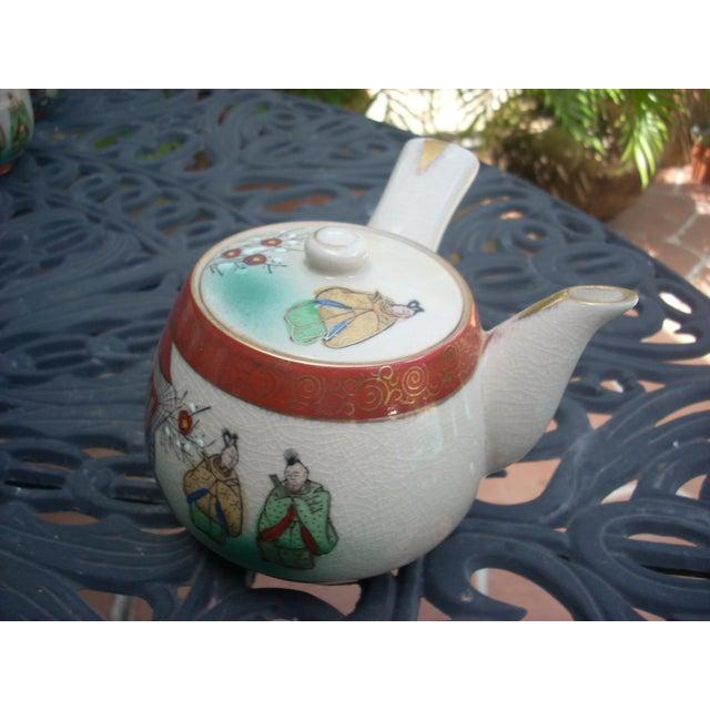 Vintage Chinoiserie Tea Seat - Set of 11 - Image 4 of 6