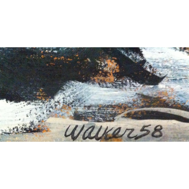 Clay Walker Mid-Century Modern Landscape Painting - Image 3 of 3