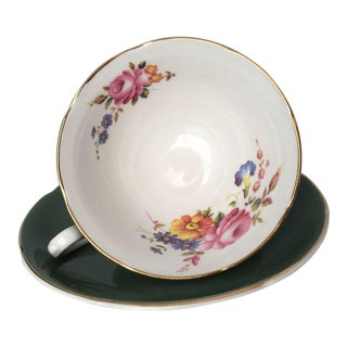 Floral Bone China Tea Cup & Saucer