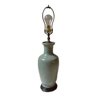 20th C. Chinese Celadon Lamp
