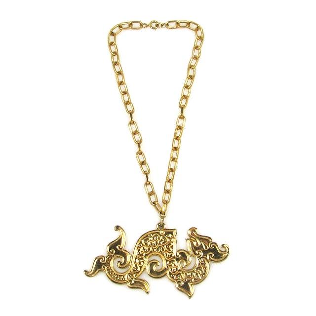 Image of Napier Golden Dragon Necklace 1960/70s