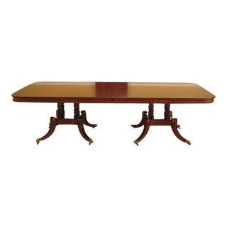 Wood & Hogan Mahogany Inlaid Brass & Rosewood Dining Table