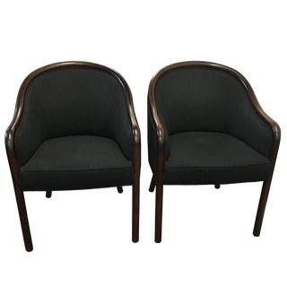 Ward Bennett Club Chairs - A Pair