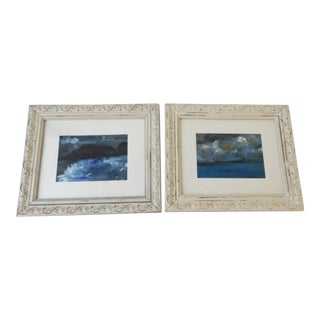 Framed Seascape Acrylic Paintings - A Pair