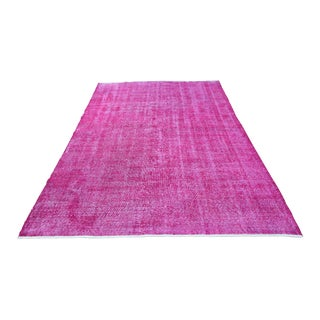 "Antique Anatolian Pink Rug - 9'2"" X 6'2"""