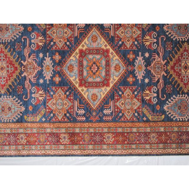 """Red & Blue Kazak Rug - 6' x 9'8"""" - Image 5 of 6"""